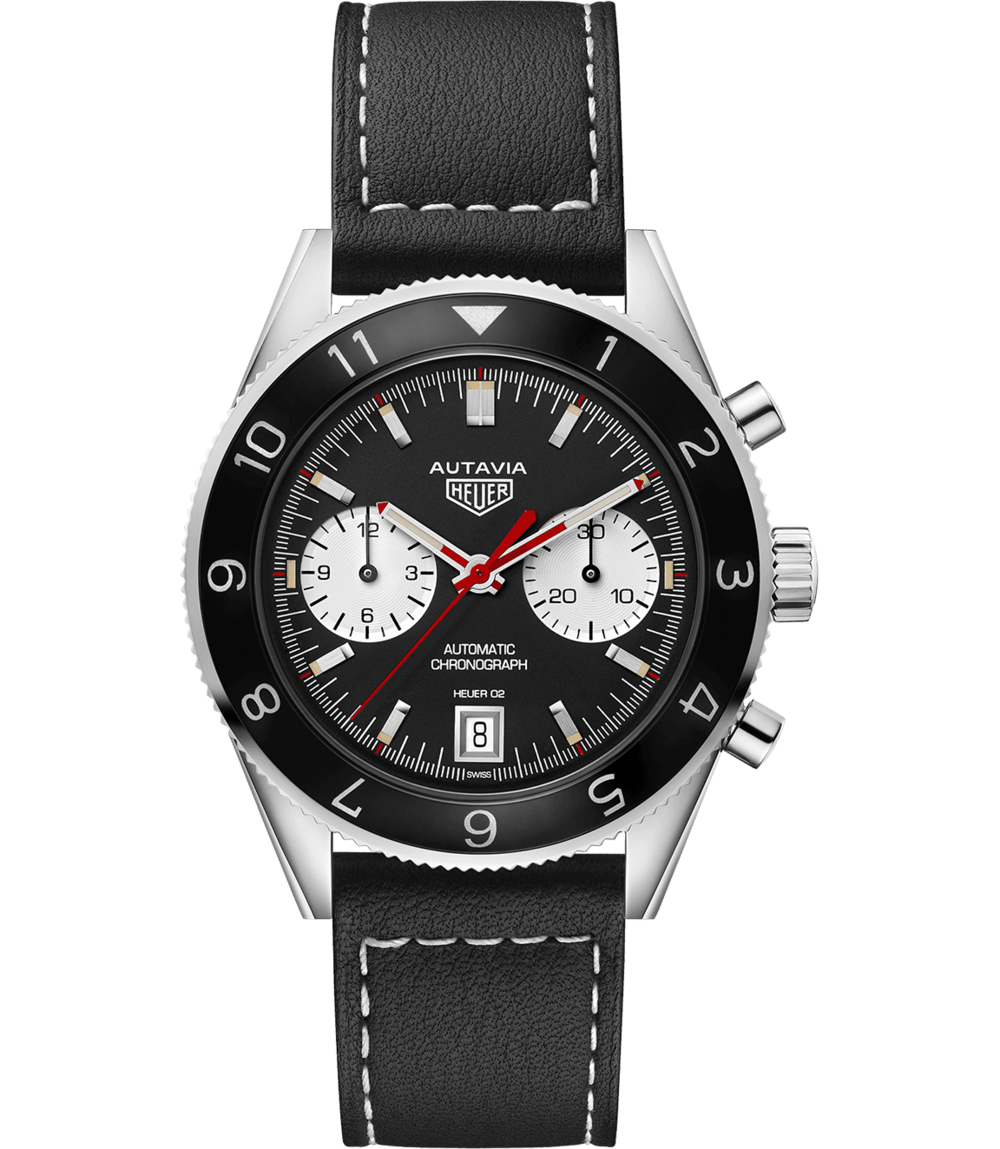 1972 Special Re-Edition Autavia - In 2017, TAG brought back the beloved Autavia chronograph that first joined the brand in the 1970's. The classic black dial provides a striking, timeless contrast against the white counters – now with a sized-up 42 mm case and complete with a 12-hour scale bi-directional turning bezel.1972 Special Re-Edition Autavia, $5,800; troverie.com
