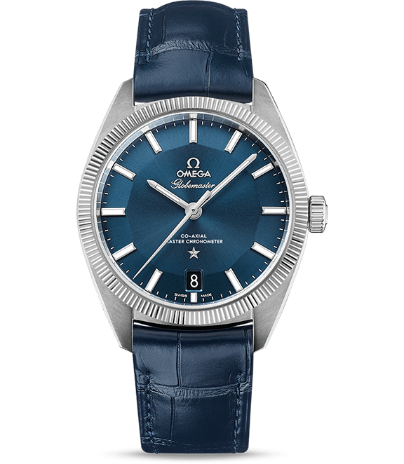 Omega Constellation Globemaster Co-Axial Master ChronometerLooks and function: this all-blue beauty boasts Omegas's Co-Axial Master Chronometer Calibre 8900. The simple yet striking stainless steel case leaves no detail untouched: a fluted bezel, Constellation star, and hands and indexes which have been filled with illuminous Super-LumiNova top off this impressive movement. - $6,900; troverie.com