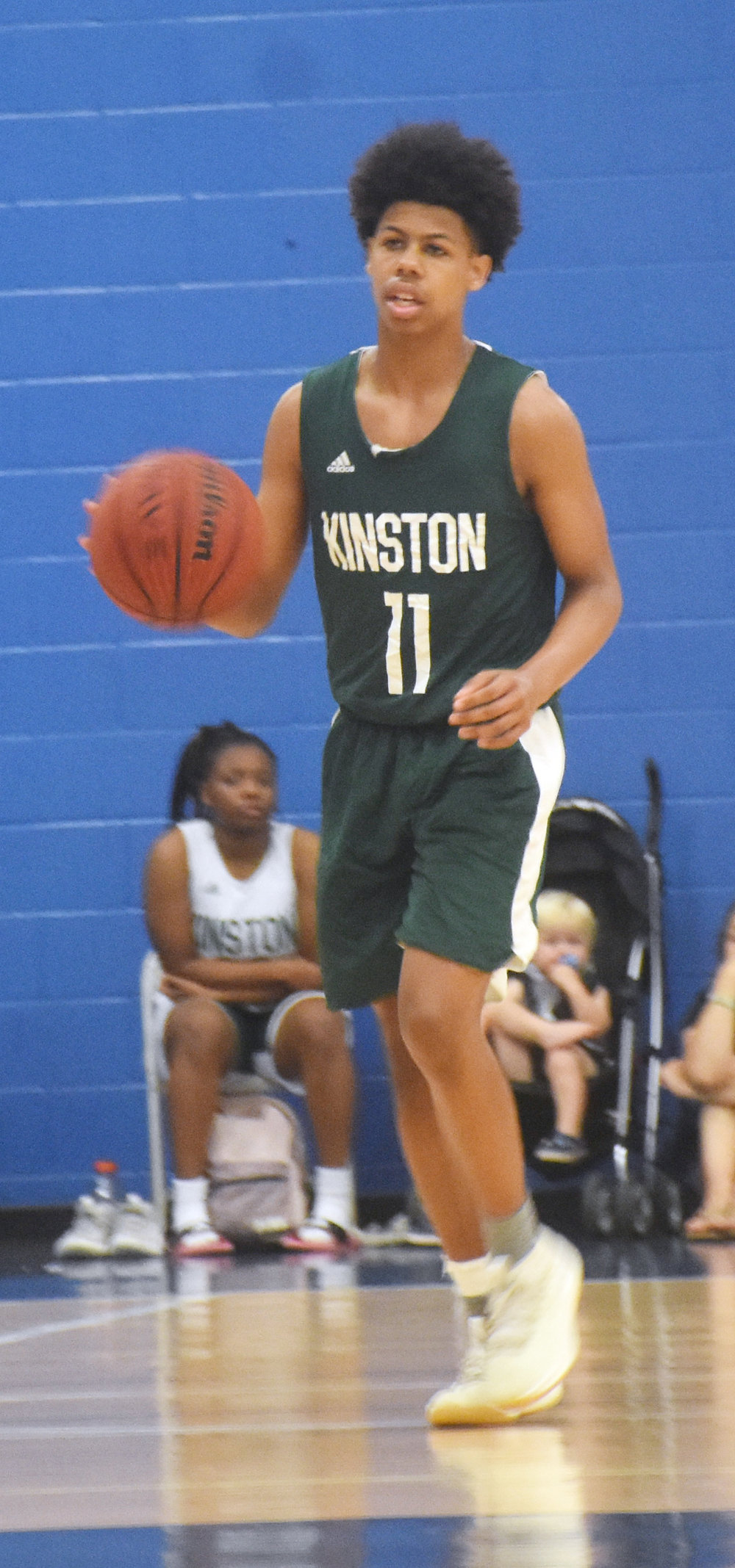 Kinston junior point guard Isaac Parson. Photo by Bryan Hanks / Neuse News