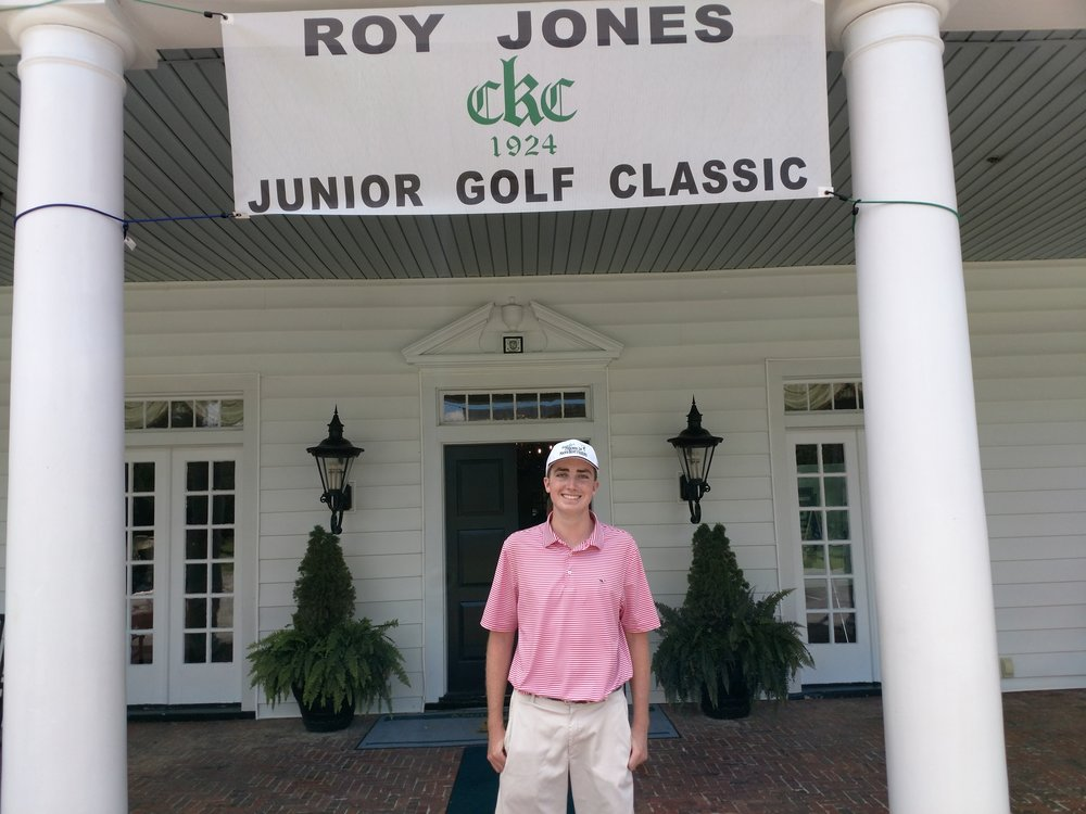 Rising Arendell Parrott Academy junior Jackson Crocker was the only local participant in the 33rd Annual Roy Jones Jr. Junior Golf Classic at the Kinston County Club. Photo by Junious Smith III / Neuse News