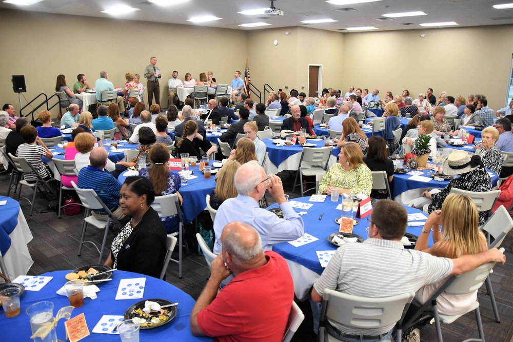 Dozens of local people enjoyed the first Hope Restorations fundraising dinner. Photo by William 'Bud' Hardy / Neuse News