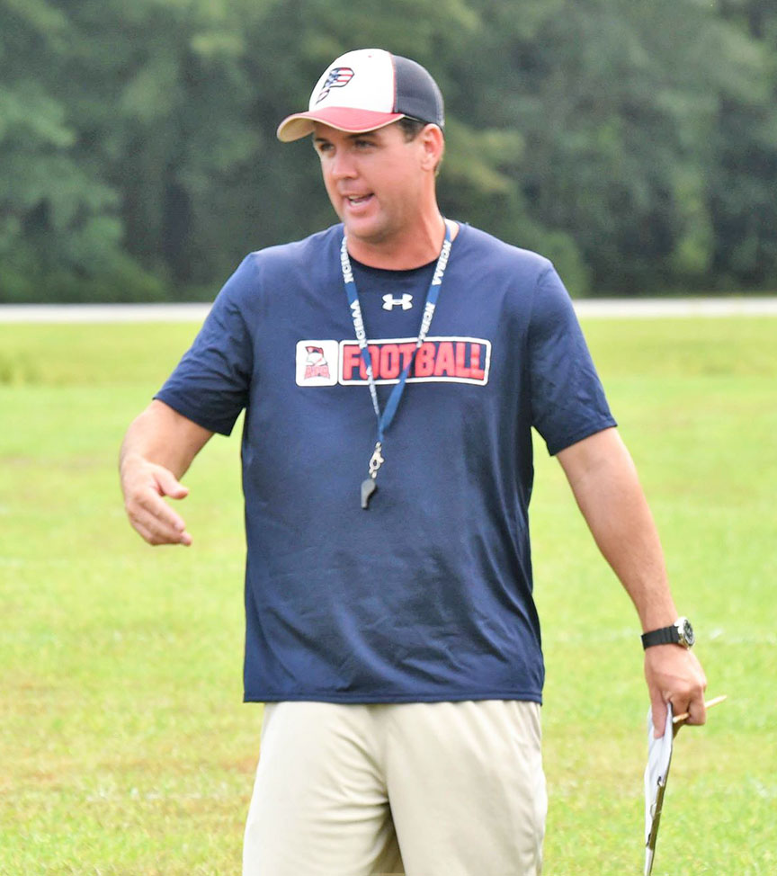 APA head coach Matt Beaman. Photo by William 'Bud' Hardy / Neuse News