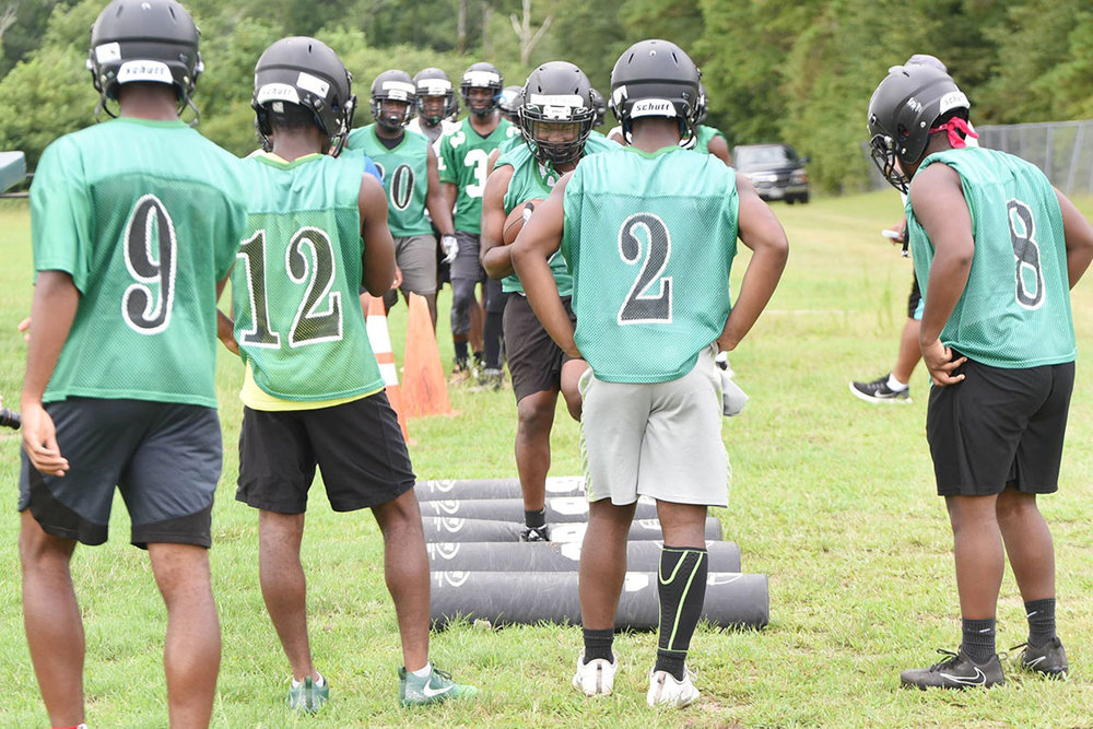 North Lenoir players take part in drills on Monday. Photo by William 'Bud' Hardy / Neuse News