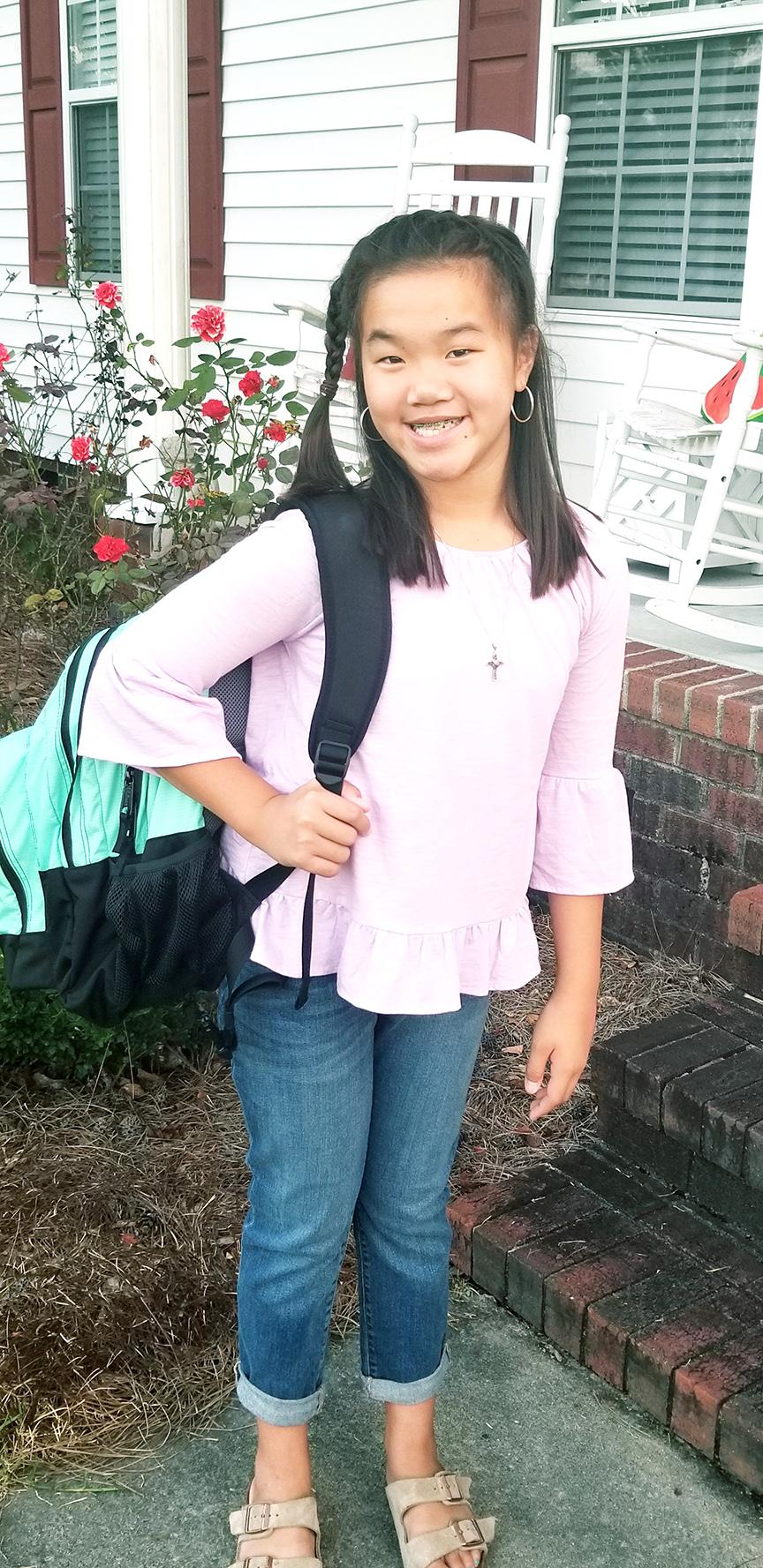 Lilli Daughety, sixth grade, Frink Middle School