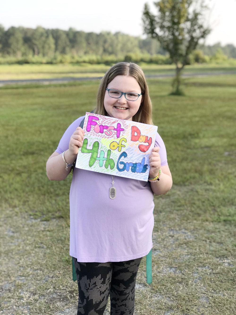 Brooke Barwick, fourth grade, Southwood Elementary School