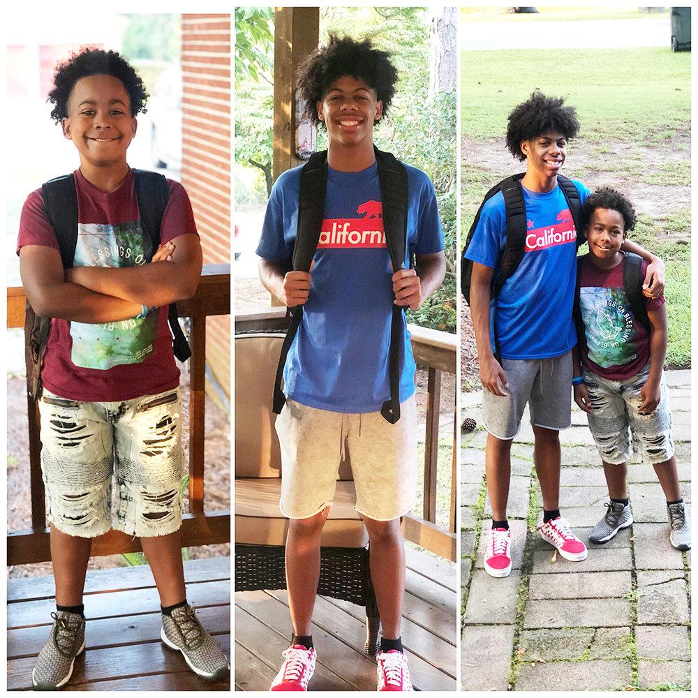 Isaiah Parson, left, sixth grade, Contentnea-Savannah K-8 School; Isaac Parson, junior, Kinston High School