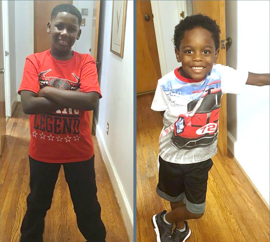 Javon Banks, left, fourth grade, Northeast Elementary School; Jameer Blackwell, first grade, Northeast