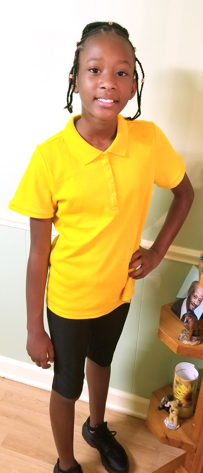 Antaniya Williams, sixth grade, Rochelle Middle School