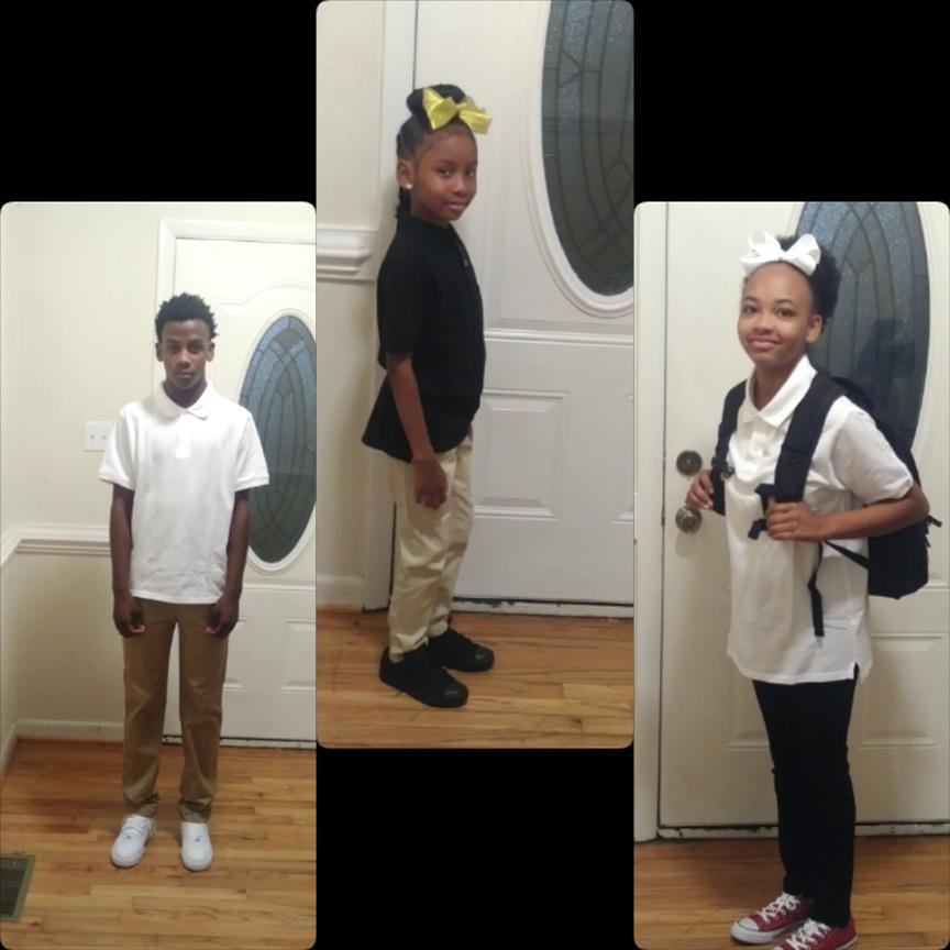 From left, Jamariante Dail, eighth grade, Children's Village Academy; Tanyla Washington, second grade, CVA; Makayla Dail, sixth grade, CVA