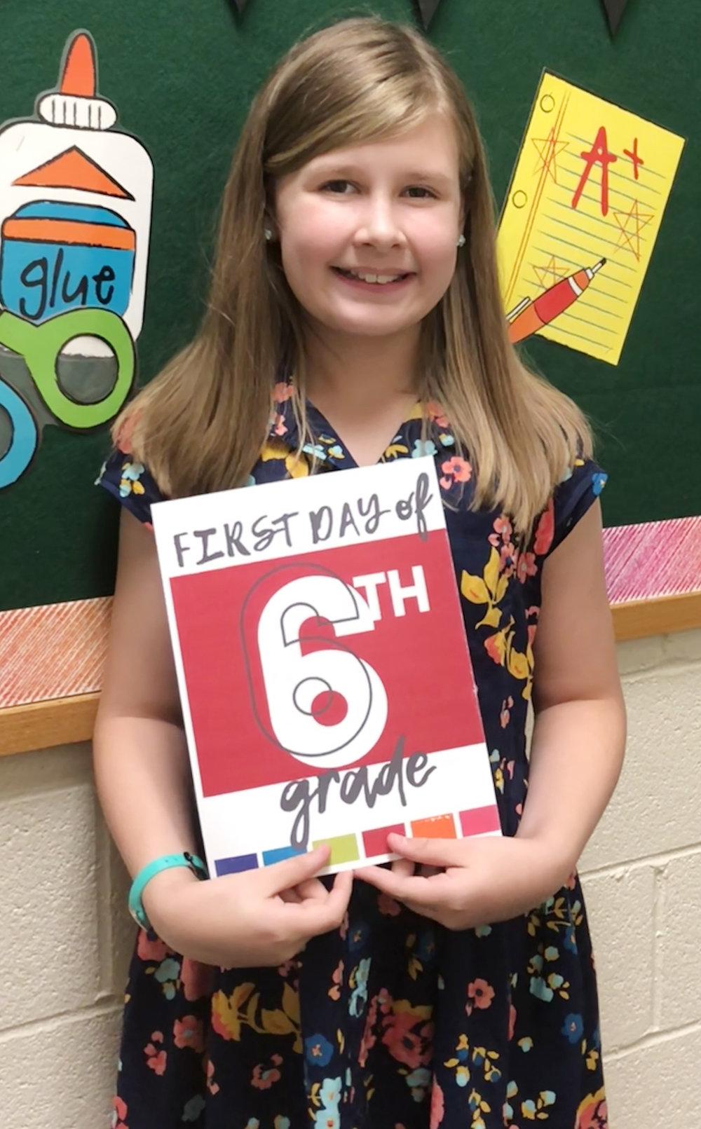 Caroline Pridgen, sixth grade, Bethel Christian Academy
