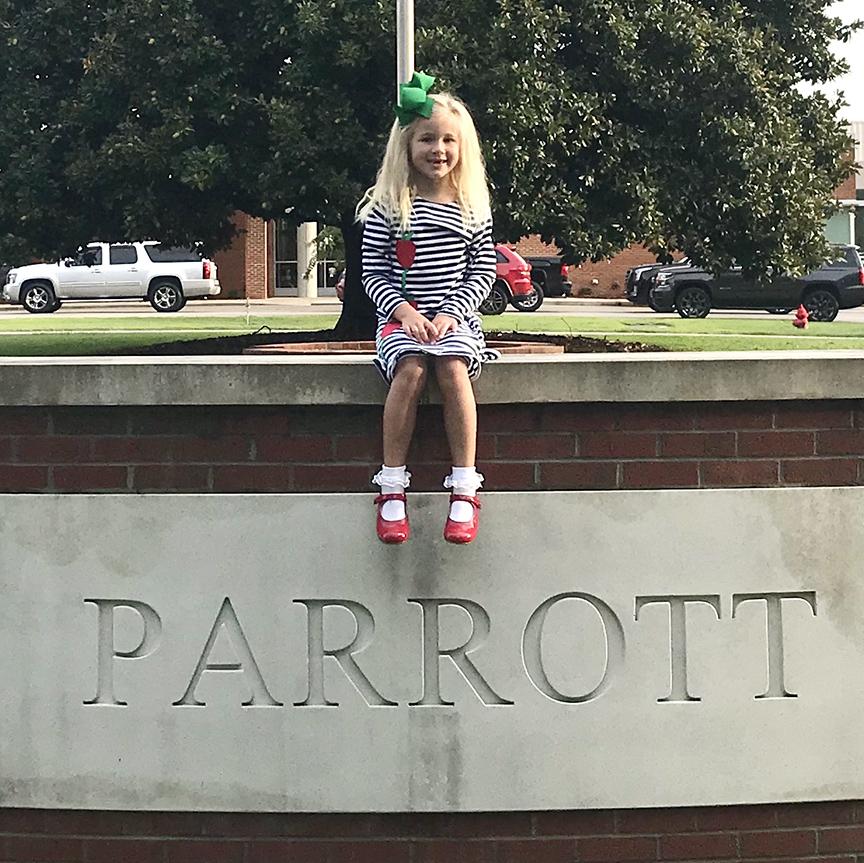 Lilly Grace Martin, first grade, Arendell Parrott Academy