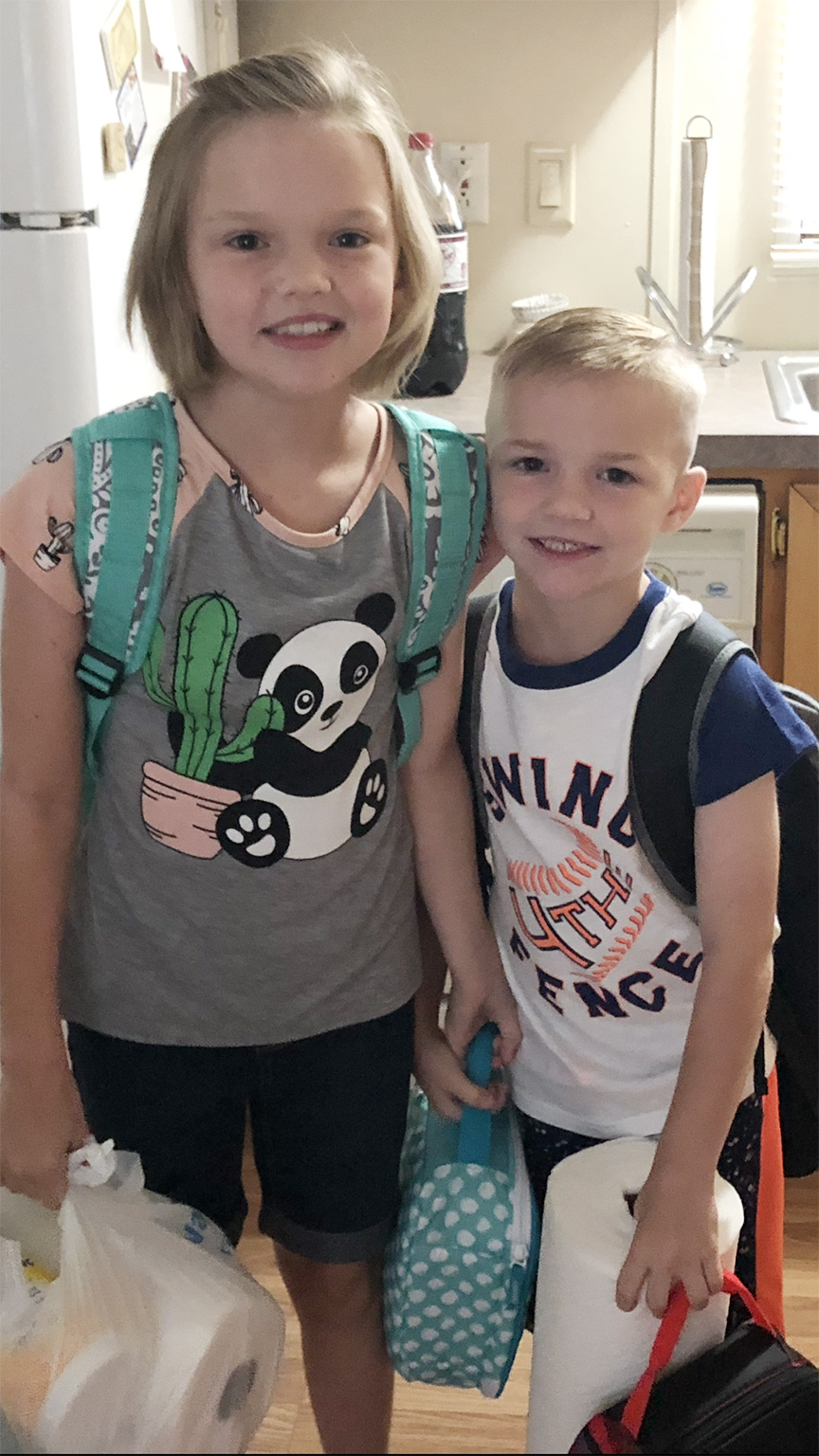 Kinley Hoover, fourth grade, Southwood Elementary School; Ethan Hoover, first grade, Southwood