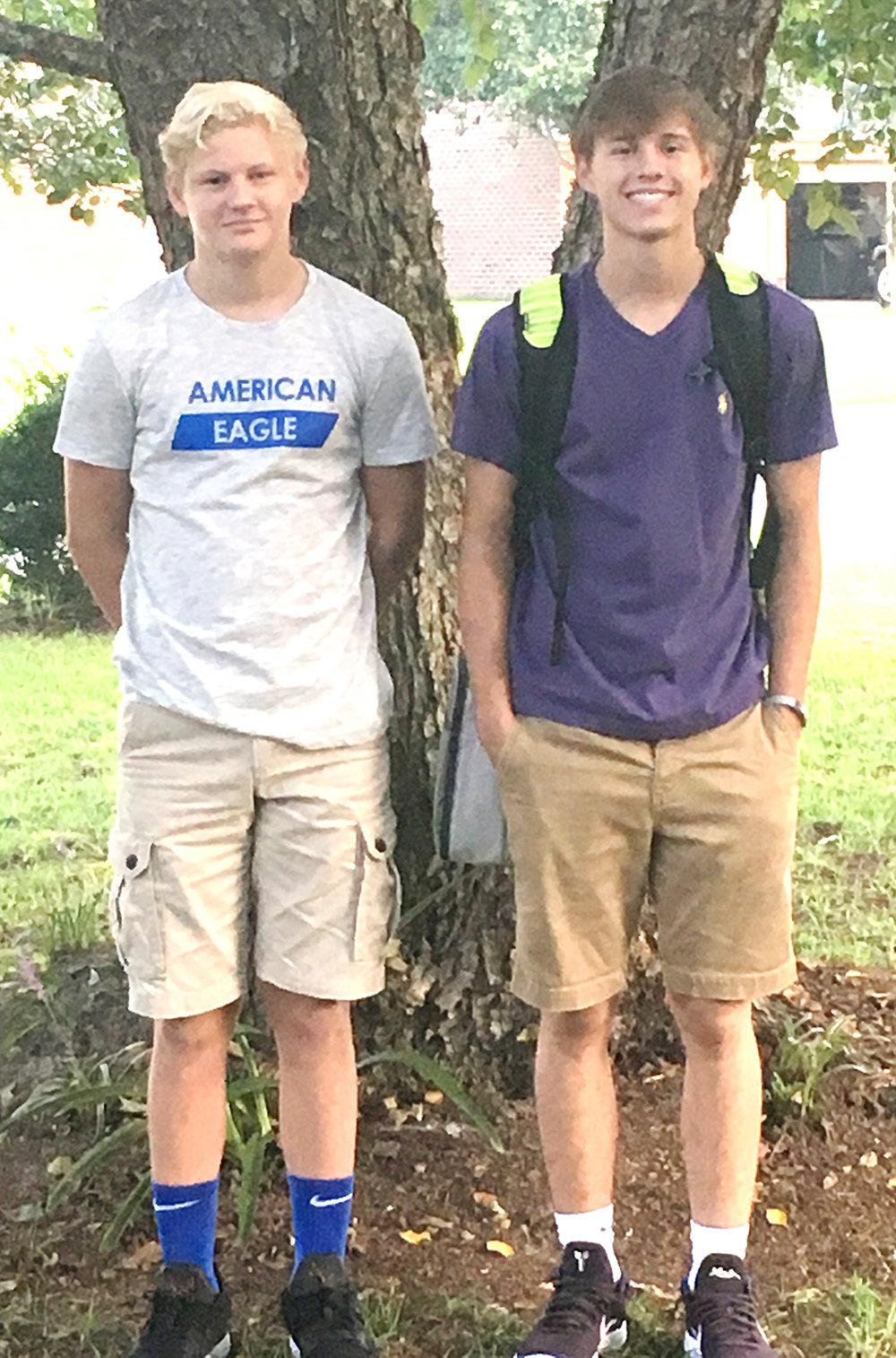 Tyler Sears, left, eighth grade, Frink Middle School; Trevor Sears, sophomore, North Lenoir High school