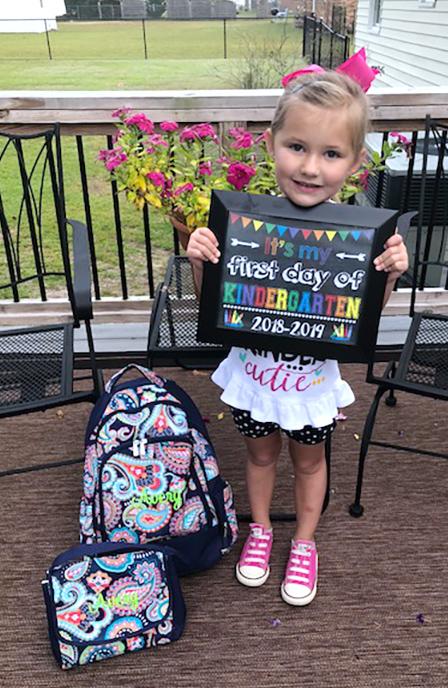 Avery Wade, kindergarten, Banks Elementary School