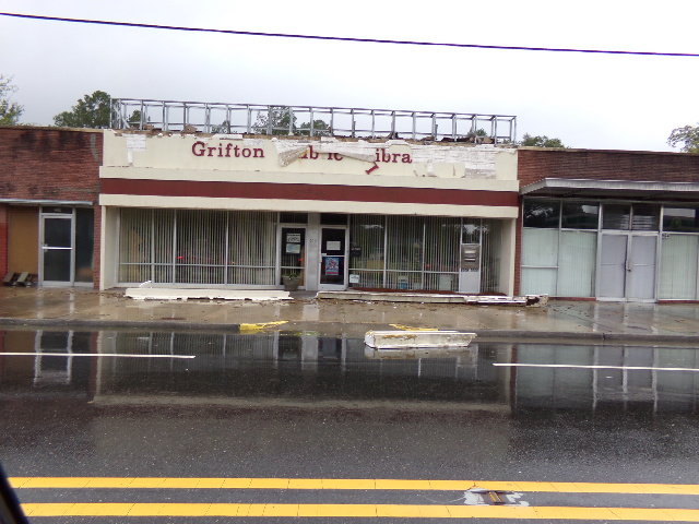 Grifton Library shows the effects of Hurricane Florence