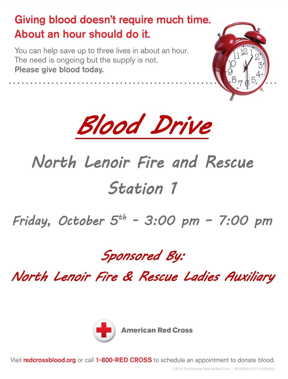 Red Cross Schedules Blood Drive For October 5th