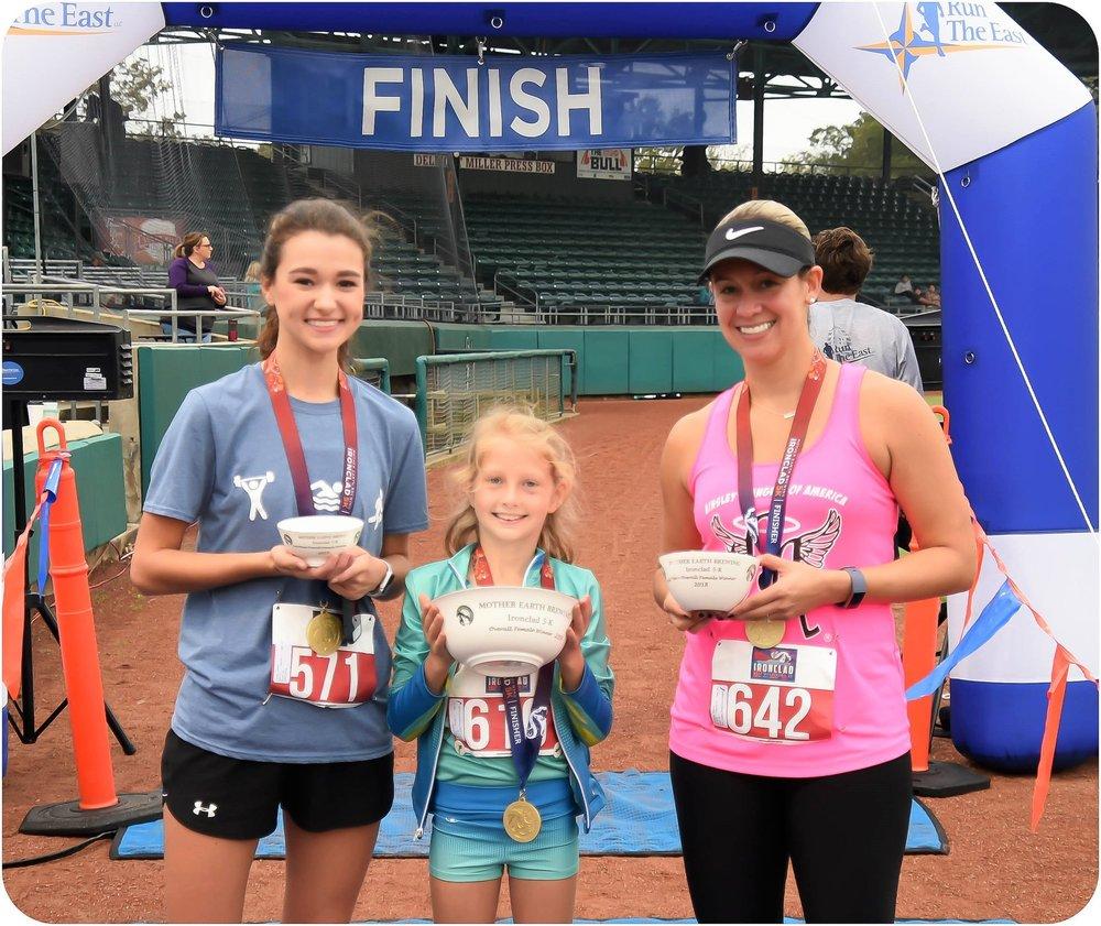 5k female winners  3rd #571 Caitlyn Grady (20) Snow Hill 25:51 1st #616 Amelia Medlin (9) Wilmington 21:25 2nd #642 Wandy Rodriguez (34) Richlands 25:18