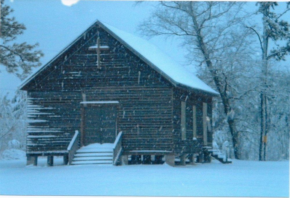 Snowing at the Church Jan 2008.jpg