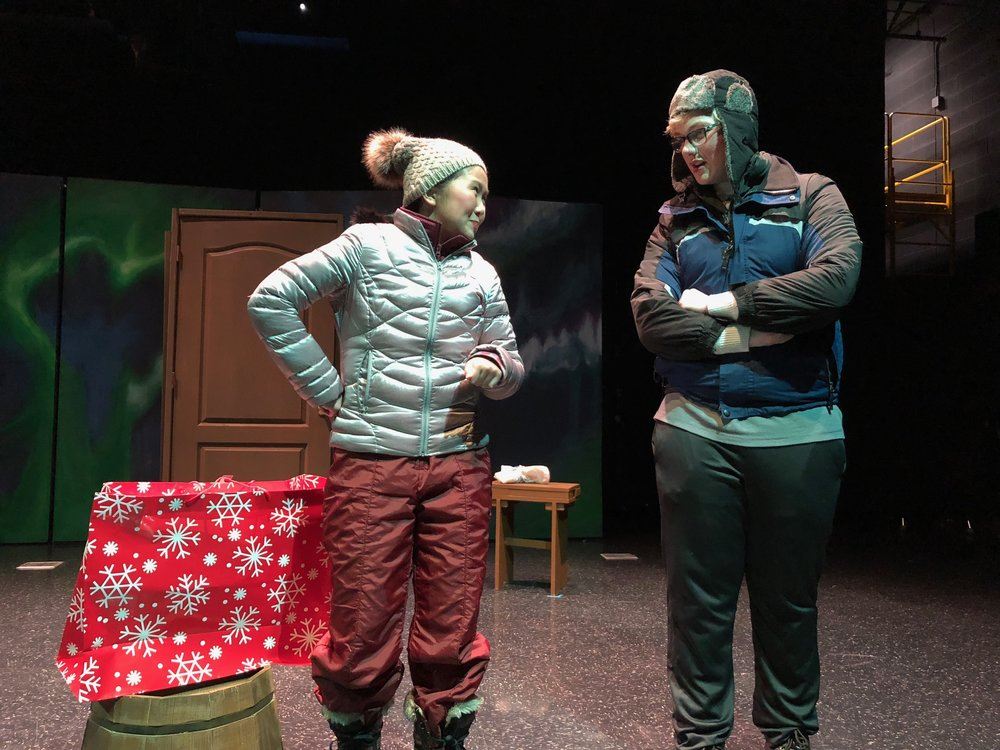 Kyle Turik and Macie Yao in a scene from  Almost, Maine.