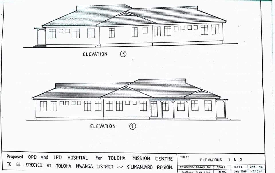 Pictured is the proposed healthcare project in Toloha village in Tanzania.