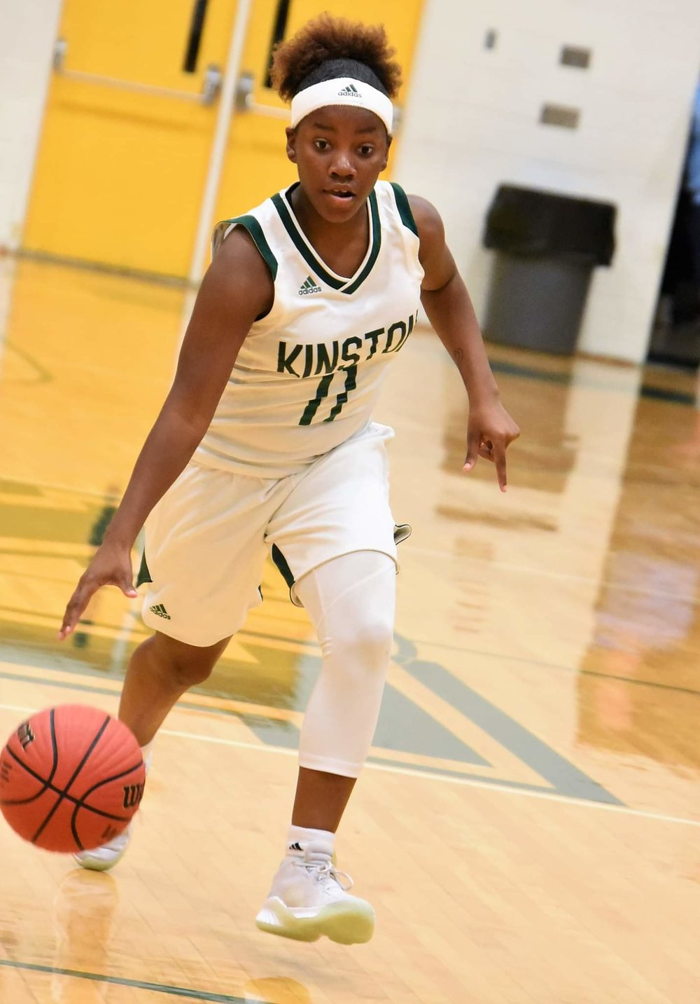 """Kinston's Michyla Dove scored a game-high 17 points in the Vikings' win over Eastern Wayne. Photo by William """"Bud"""" Hardy / Neuse News"""