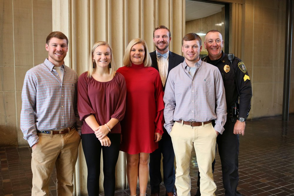 (left to right) Landon Stroud, Johnna Stroud, Dawn Stroud, Dusk Stoud, Smith Stroud, and John Stroud (Photo by Jenna Thigpen/special to Neuse News)