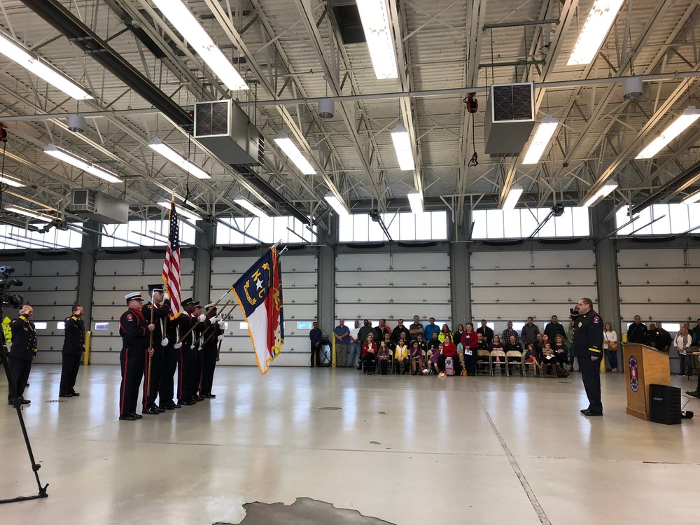 The Kinston Department of Fire and Rescue Color Guard. Photo by Catherine Hardee / Neuse News