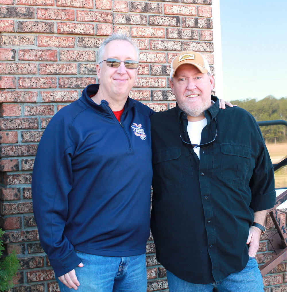 One of these guys (the one on the right) is a distinguished law enforcement officer and the sheriff of Jones County, Danny Heath. We're not sure about the dude on the left. Both were born 50 years ago today. Photo by Linda Whittington / Neuse News