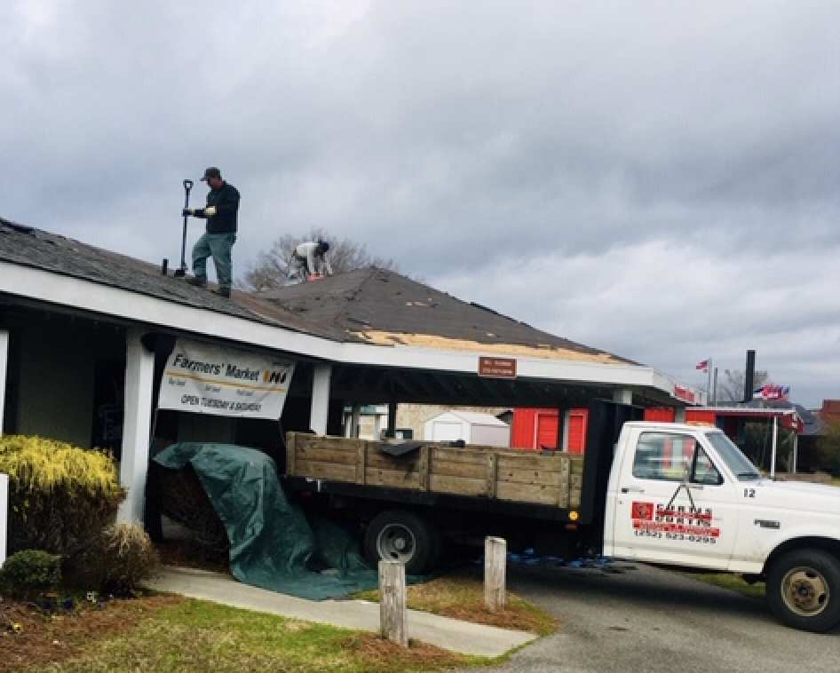 We are so thrilled that a new roof is being installed at the market. Some of our vendors have been dodging leaks for a while, but now that will be over! Many thanks to the Lenoir County Commissioners for realizing our worth in the community by taking care of our distinctive market, our vendors and our customers. It's going to be a great 2019.