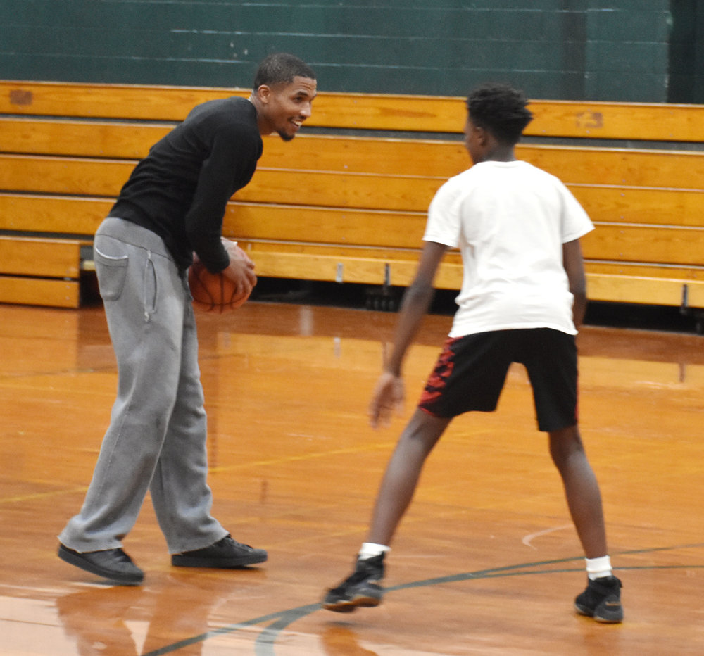 Ever the competitor, Rochelle Middle School head basketball coach Joshua Dawson is in his first season at the helm. Photo by Bryan Hanks / Neuse News