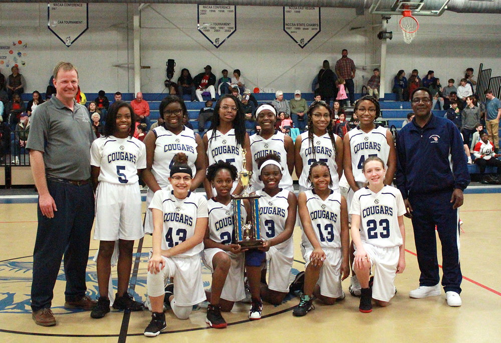 The 2019 Lenoir County Middle School girls' basketball champions: Contentnea-Savannah School. Photo by Linda Whittington / Neuse News