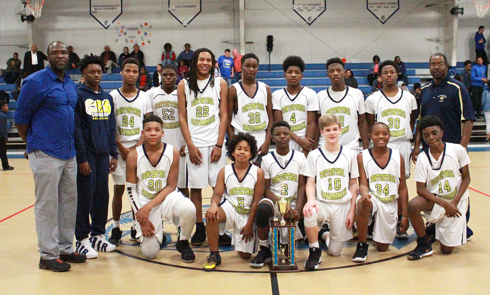 The 2019 Lenoir County Middle School boys' basketball champions: Contentnea-Savannah School. Photo by Linda Whittington / Neuse News