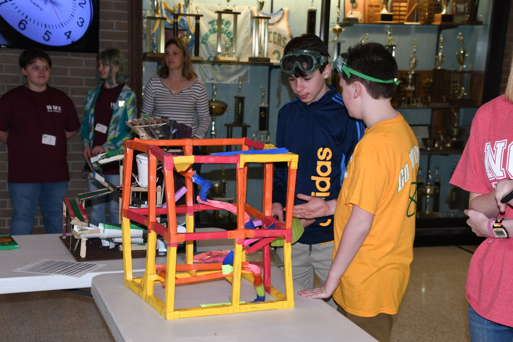 With 46 different events in the 19th annual Region 10 Science Olympiad Saturday at Lenoir Community College, there was plenty to view. Submitted photo