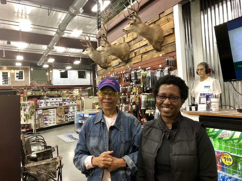 Ann McCoy and her daughter Angela Speight are members of the Kinston chapter of The Well-Armed Woman. Photo by Catherine Hardee / Neuse News