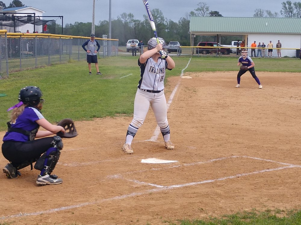 Jones Senior's Karly Wynne looks for her pitch in Friday's game against Tarboro. Photo by Junious Smith III / Neuse News