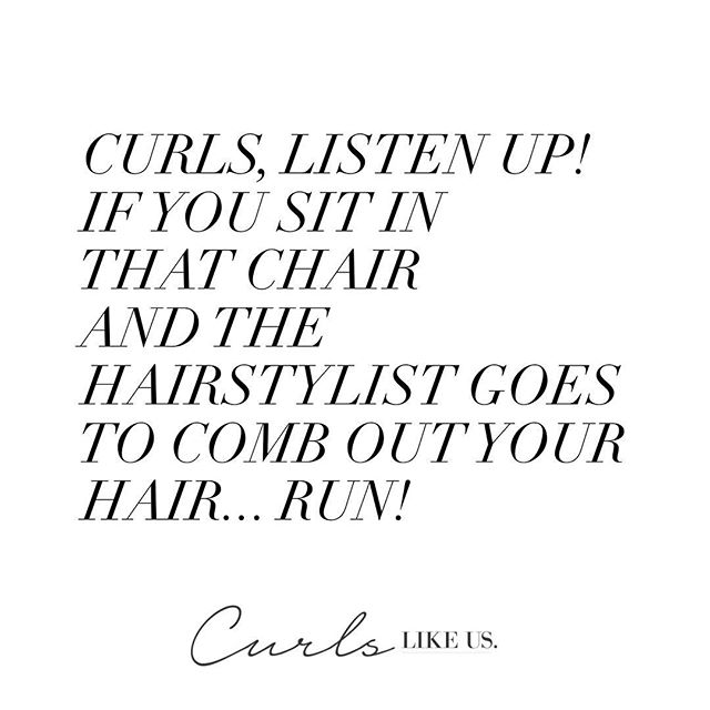 #TBT memories of sitting in the chair as a child and the hairstylist combing out my hair curls..... OUCH!  To reduce the tears, pain and shredding please only detangle curls whilst hair is wet and with LOTS of conditioner!  What's your horror story from childhood?