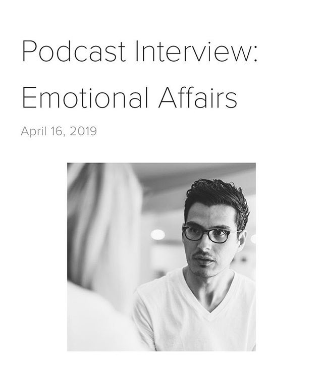 The link to the podcast interview I recorded with the Work Life program at SAS on emotional affairs is up on the blog!