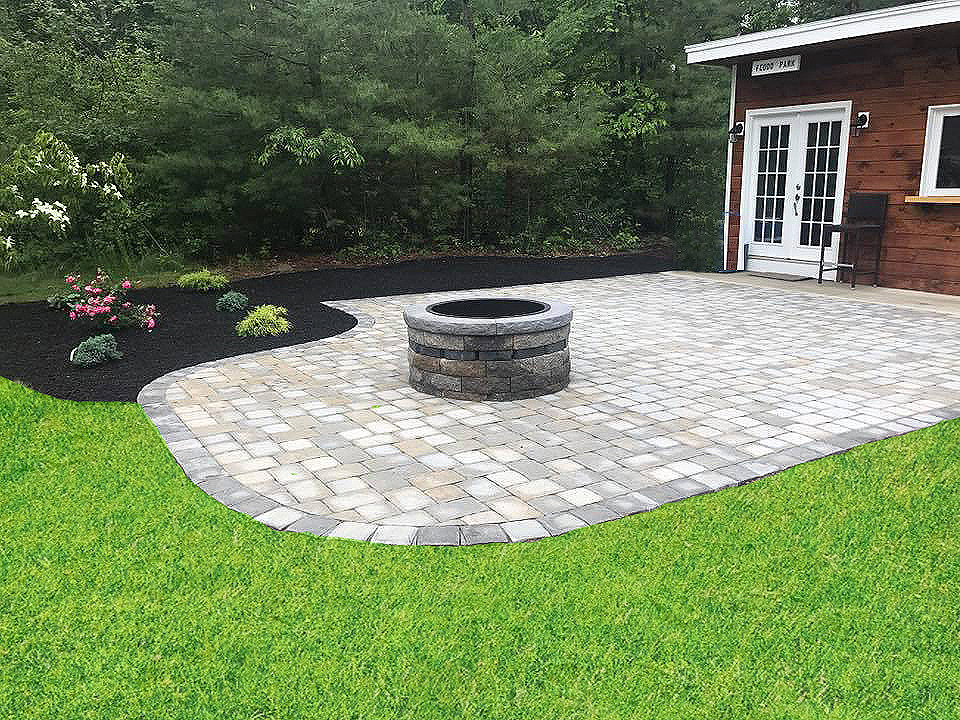 Land Solutions Stone Paver Patios Fire Pits Billerica