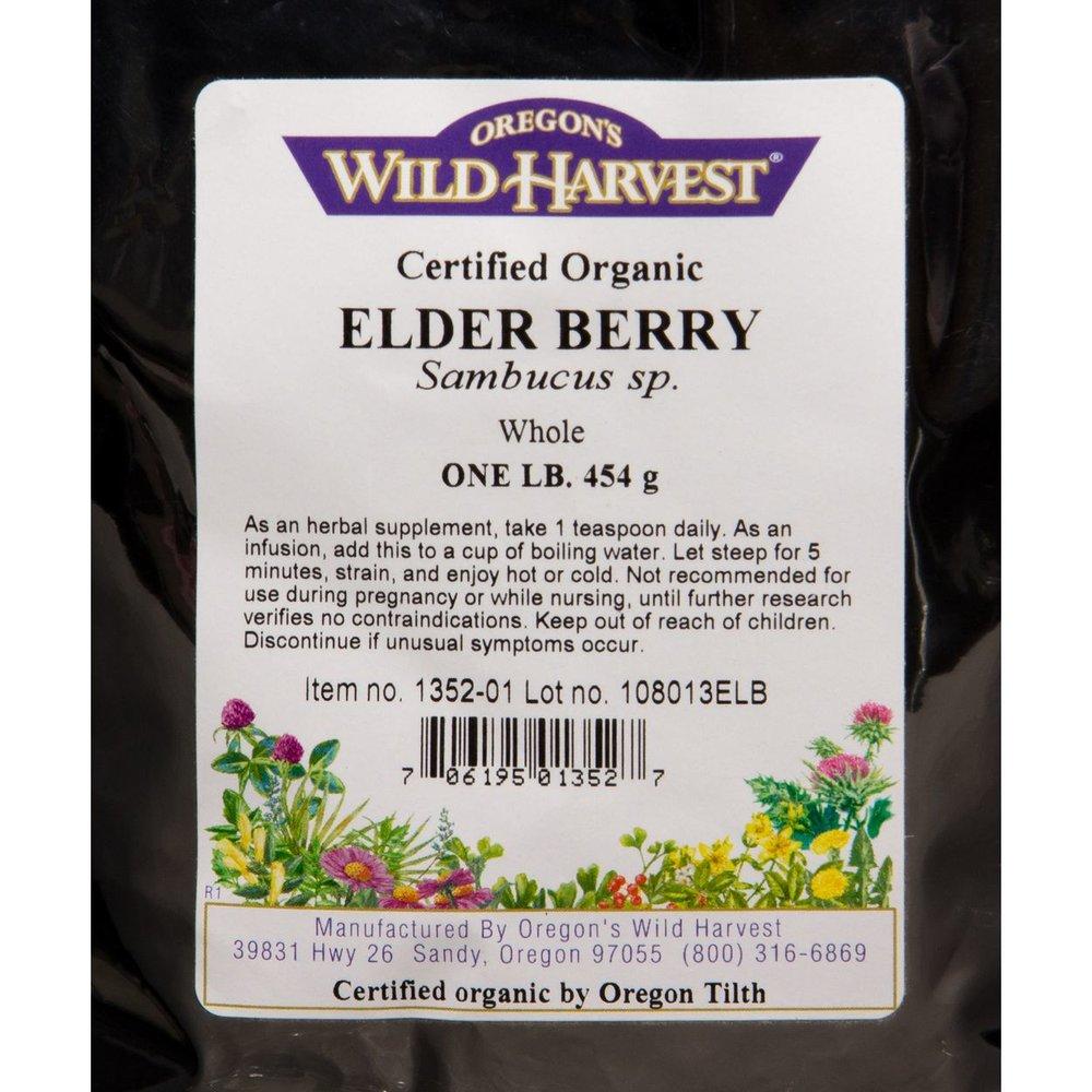 Organic Whole Elderberries