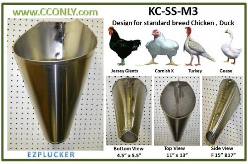 Stainless Steel Poultry Restraining Cone