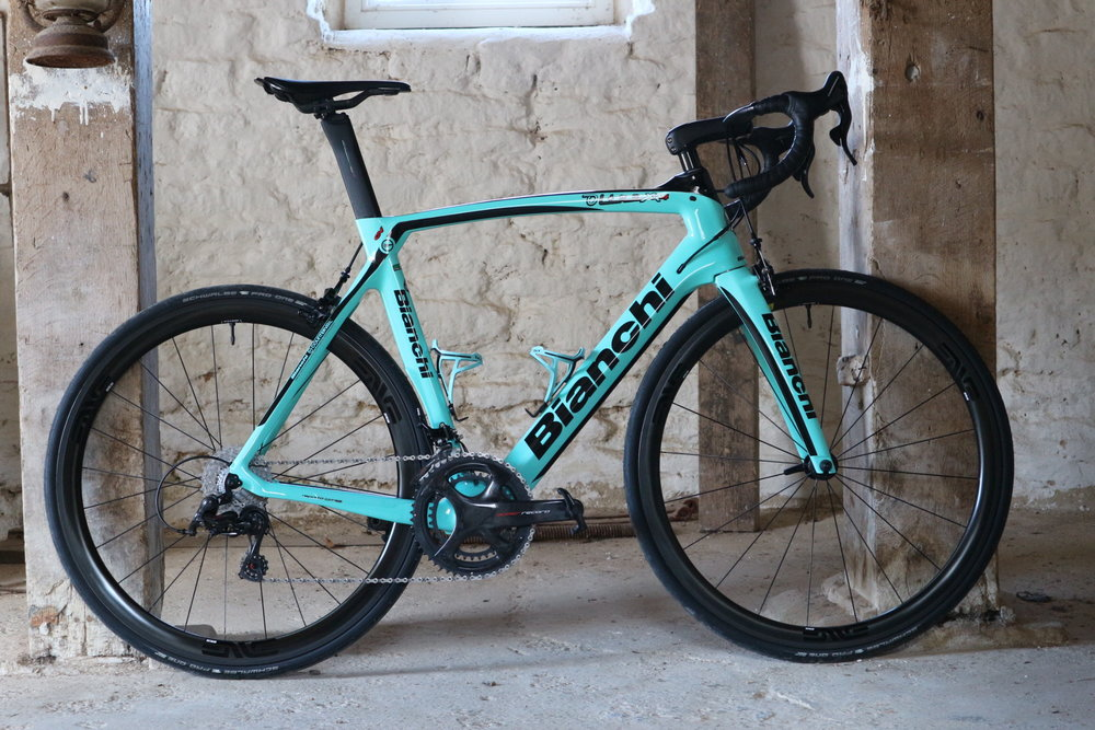David's Oltre XR4 - Enve and Campagnolo headlining alongside Bianchi.