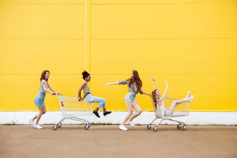 friends in shopping carts medium size.jpg