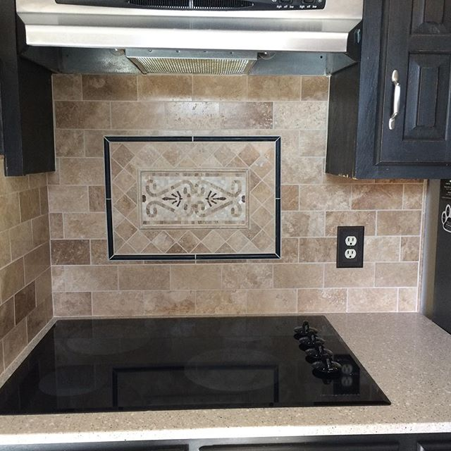 We just finished this clients travertine backsplash. She came to us with a picture and we were able to recreate the exact look she wanted!  #tile #backsplash #kitchenremodel #travertine #dallas #friscotx #mckinney #richardson #allentx