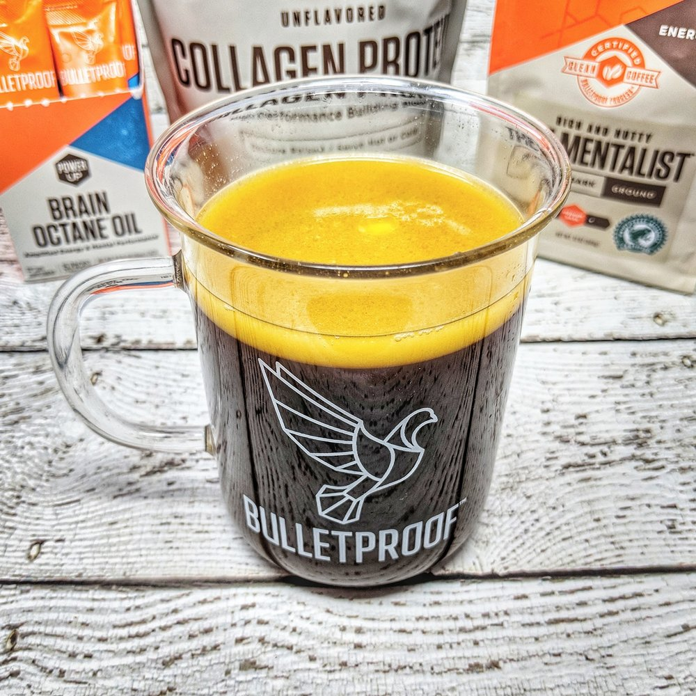 Learn how to make Bulletproof coffee. - Typical convention originally held it to be a combination of butter, MCT oils, and coffee. Recently it's evolved into basically any kind of coffee that is blended with lots of fat, protein and/or other ingredients -- all from a variety of sources.Don't get tied up with over-complicated details (such as whether the cow that produced your butter was milked within the last three days), here's my take on how to make the best bulletproof coffee.