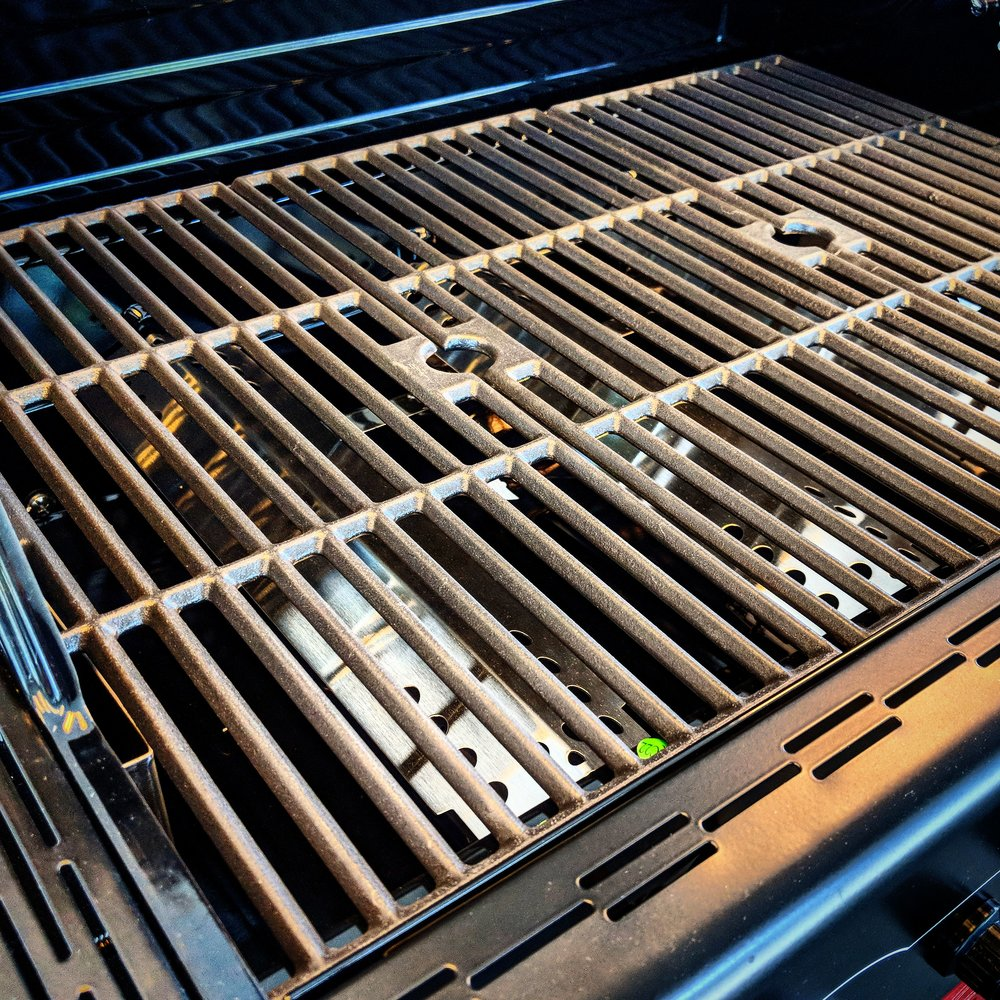 Season your grill for flavorful food and longer lasting grates. - It's easy to prevent food from sticking to your grill grates by seasoning & oiling your grill before and after each use.