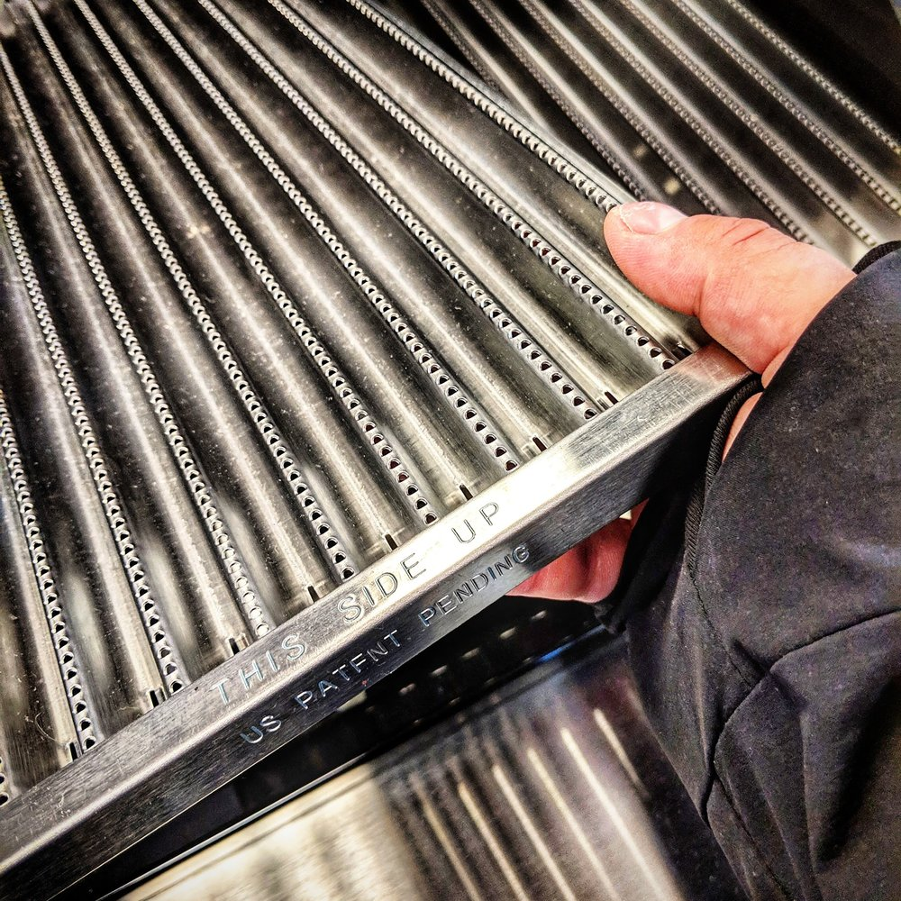 Step 2B - Use your hand to completely lift & remove the emitter plate from the grill.