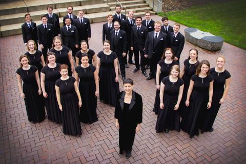 University of Oregon School of Music and Dance Chamber choir - Sharon Paul, director