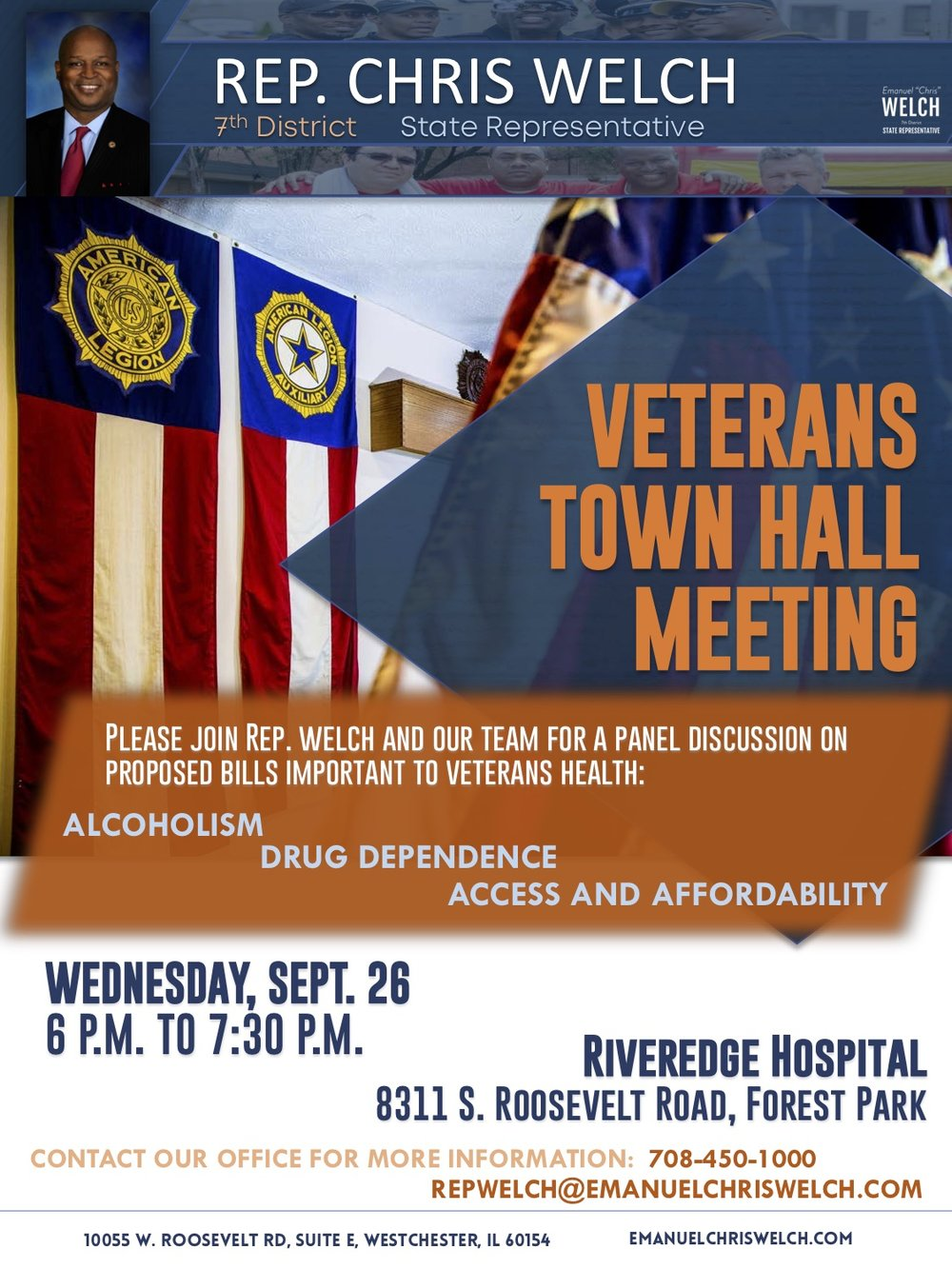 Rep. Welch veterans town hall flyer July 2018.jpg