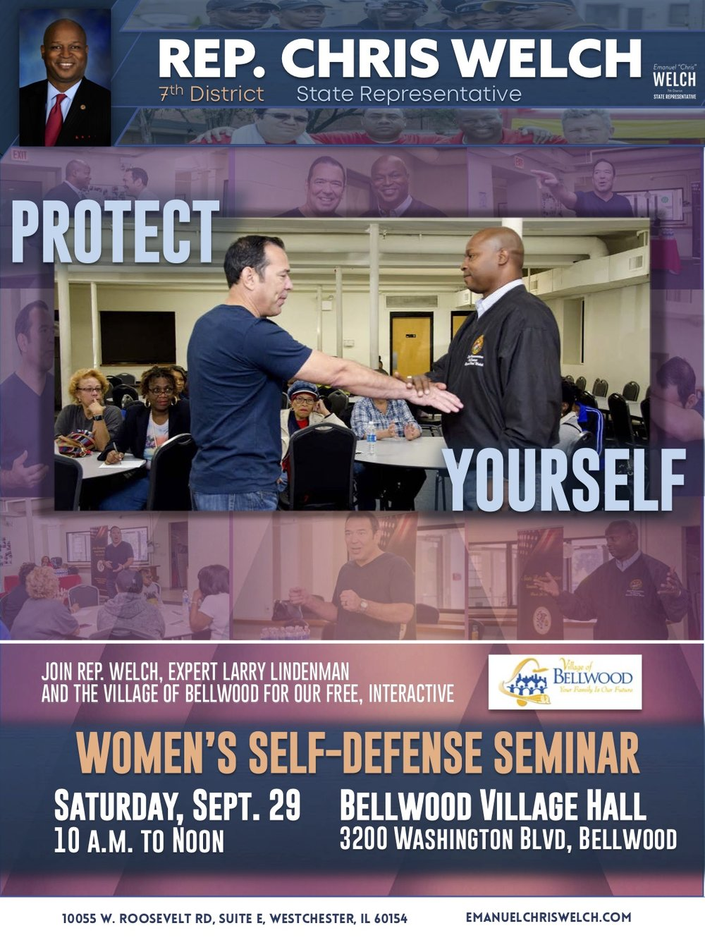 Rep. Welch women's defense seminar flyer Sept 2018.jpg