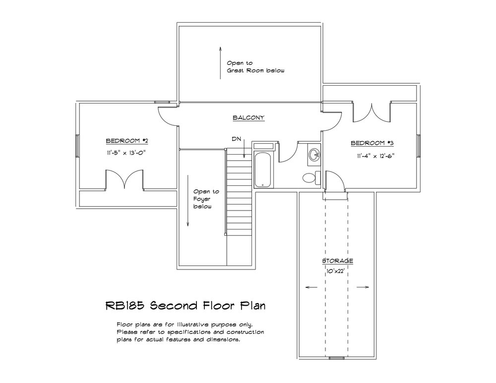SECOND FLOOR - (click to enlarge)